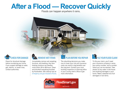 Follow these tips to recover from a flood.