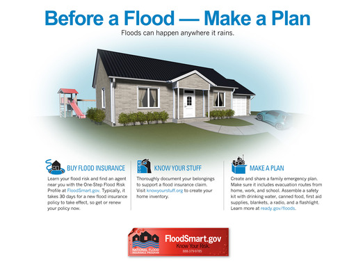 Anywhere it can rain, it can flood. Take steps to prepare.