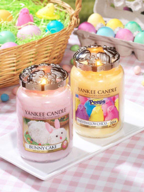 ankee Candle's top-selling Bunny Cake, a mix of coconut, vanilla and citrus, along with new PEEPS® Marshmallow Chicks makes springtime decorating and gifting colorful and fun for all.