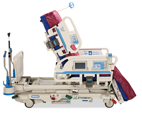 The Progressa® bed system supports early mobility protocols, providing configuration options ranging from a flat bed to a full chair position easily accessible through the on-board controls.