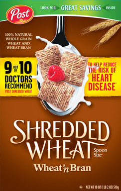 Post Shredded Wheat Spoon Size Wheat 'n Bran