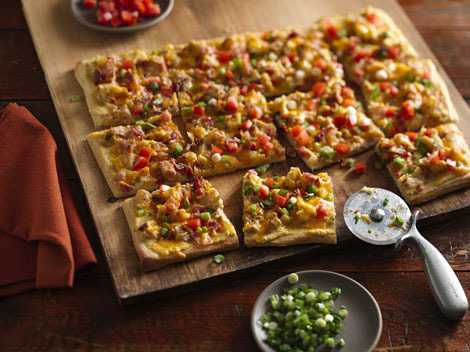 Loaded Bacon Potato Pizza