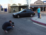 NICB producer videotapes staged accident demonstration with LAPD