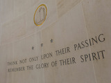 This inscription is seen inside the chapel at Normandy American Cemetery in France.