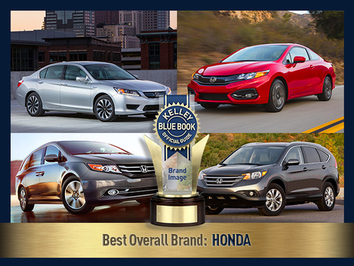 "For two years running, Honda has been named the Best Overall Brand, securing the highest average scores on affordability, ""cool"" factor, driving comfort and more."