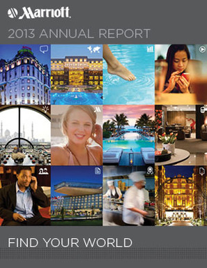 Marriott International 2013 Virtual Annual Report Cover