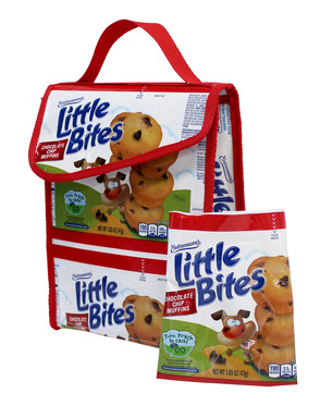 Upcycled Lunch Sack created by TerraCycle using Entenmann's Little Bites pouches