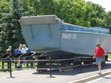 One of the few remaining landing crafts used in WWII be on display at the First Division Museum at Cantigny Park in Wheaton, Illinois, on Saturday, June 7, 2014.