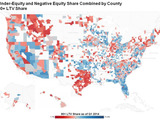 Map 1: Under-Equity and Negative Equity Share Combined by County Map