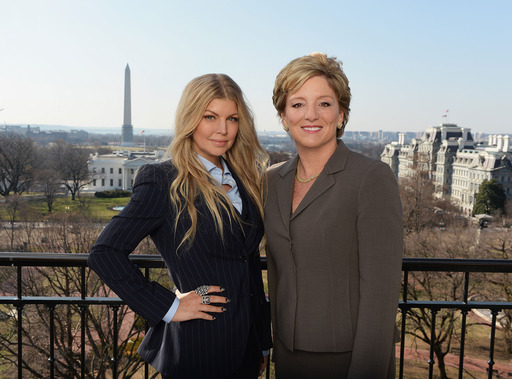 Avon Foundation Global Ambassador Fergie and Avon Products, Inc. CEO Sheri McCoy visit Washington, D.C. to announce a new global initiative to end violence against women with the Avon Foundation, Vital Voices, and the U.S. State Department.