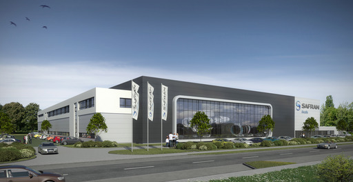 Mock-up of the future  Aircelle (Safran) integration facility in Hamburg, Germany, which will assemble and deliver nacelles on Airbus A320neo jetliners equipped with CFM LEAP-1A jet engines