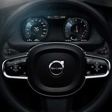The All-New Volvo XC90's intuitive and tasteful design extends to the digital driver display.
