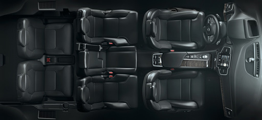 The All-New Volvo XC90's third row is centred slightly to give occupants a clear forward view.