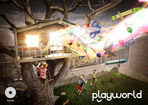Playworld offers children aged five+ the ultimate craft creation tool on next generation smart devices. ©Starship UK LTD