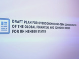 INTERACTIVE PROGRESS ON DRAFT PLAN FOR OVERCOMING LONG-TERM CONSEQUENCES OF THE GLOBAL FINANCIAL AND ECONOMIC CRISIS FOR UN MEMBER STATES