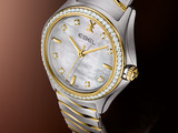 EBEL Wave Lady in stainless steel, gold and diamonds