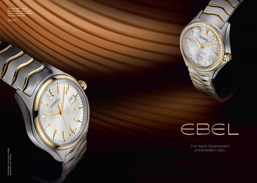 The new EBEL wave in stainless steel and gold