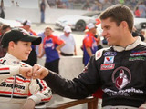 Patient Ambassador Brendon Wiseley with NASCAR driver and Love to the Rescue® Ambassador David Ragan join forces to keep families On Track for a Safe Summer.