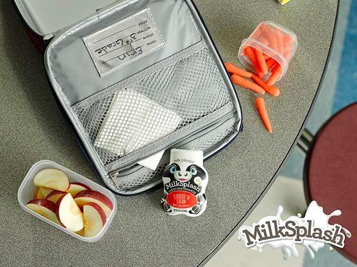 MilkSplash™ does not require refrigeration after opening and is portable. Its small bottle easily fits within a lunchbox for a delicious treat at school. Visit milksplash.com.
