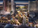 The Strip's first park will create a dynamic neighborhood environment that encompasses New York-New York and Monte Carlo resorts and the 20,000-seat arena currently in development by MGM Resorts and AEG.
