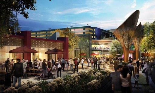 The Park will offer an array of public spaces for socializing, relaxing, exploring and sampling the surrounding tastes, sights and sounds within a beautifully landscaped desert environment.