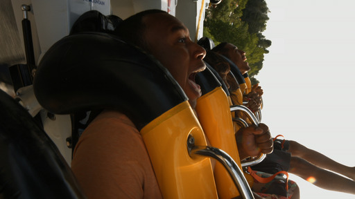 BATMAN The Ride Backwards at Six Flags Magic Mountain in Valencia, CA.