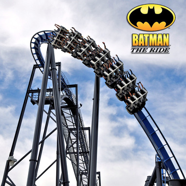 BATMAN The Ride Backwards at Six Flags Magic Mountain in Valencia, CA