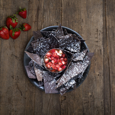 OREO Fanatic Hack by Michael Voltaggio (OREO Tortilla Chips with Strawberry Salsa)