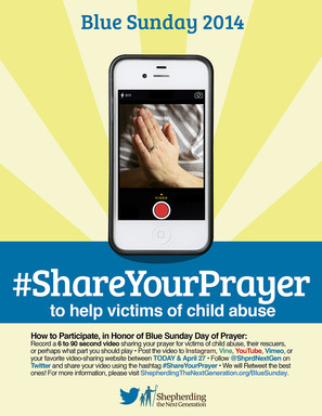 #ShareYourPrayer for Victims of Child Abuse and Neglect