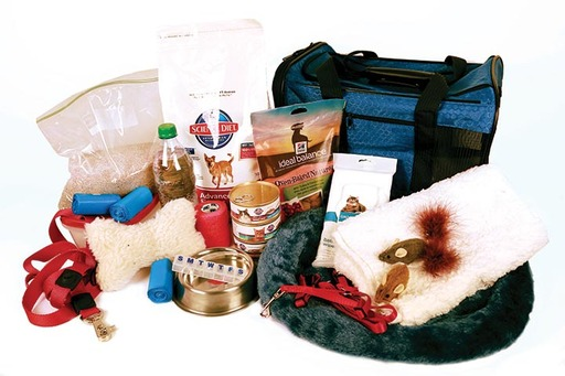 Contents to include in your Pet Emergency Go-Kit. Credit: Hill's Pet Nutrition