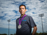 HOKA ONE ONE athlete Leo Manzano was the first U.S. athlete to medal in the 1500m in 44 years during the 2012 Olympics.