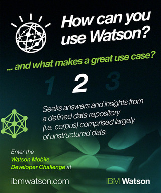 Part 2: How can you use Watson? Watson needs the right content to answer questions