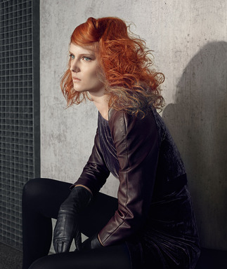 Autumn/Winter Borderline Beauty: Showcasing a wearable look, this interpretation of Borderline Beauty by Wella's style and color duo, Alexis Ferrer and Nerea Marin's is desirable and attainable in salons.