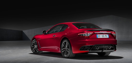 A 454hp, 4-7-liter V8, with a ZF 6-speed automatic transmission emphasizes the extreme sporting nature of the MC version of the GranTurismo, in this Magma Red GranTurismo MC Centennial Edition coupe.