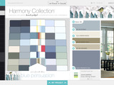 As part of the PPG Color Work Station, the Harmony Collection features 295 stand-alone colors organized for ultimate color coordination. Large take-home color chips are also available.