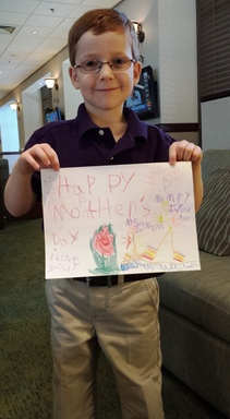 Aidan LaMothe, 2014 March of Dimes National Ambassador, celebrates Mother's Day and says Thank You to his Mom