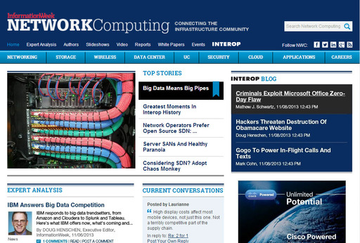 The new Network Computing infrastructure community site.