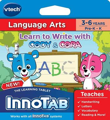 Spring into learning with the VTech® Learn to Write with Cody & Cora Learning Cartridge for the InnoTab® Learning Tablet.