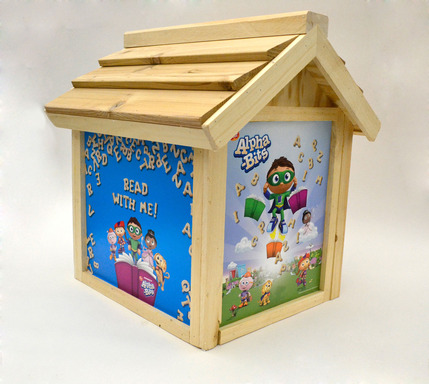 Alpha-Bits sponsored Little Free Library encourages a lifelong love for reading and literacy