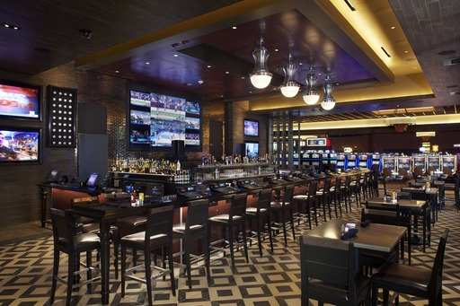 Stadium(TM) at Belterra Park features 50 flat screen TVs, sports tickers, multifunction stage with live entertainment. 32 draft beers, more than 100 bottled beers. Pizza, angus burgers, house-smoked barbecue, overstuffed sandwiches, shareable appetizers.