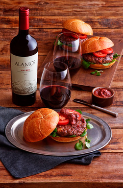 Malbec Burger with Creole Mustard Tomato Jam