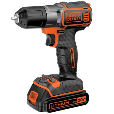 The new BLACK+DECKER 20V MAX* Lithium Cordless Drill with AutoSense™ Technology has an automatic clutch so homeowners no longer need to experiment with trial and error to set the clutch