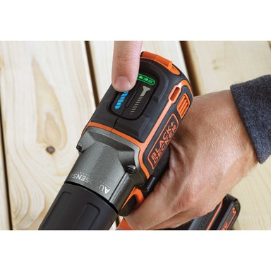 Choose between Drill and Drive modes for automatic clutch settings with the 20V MAX* Lithium Cordless Drill with AutoSense™ Technology