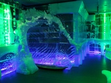 Minus5 Ice Bar Opens at Pointe Orlando. Everything inside the space is made of 100% ice including the hand crafted sculptures, bar, walls, benches and even the glasses guests drink from.
