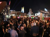 VIPs, media and Godzilla fans packed the Los Angeles after party where attendees mingled in a post-disaster themed event and experienced the latest evolution in mobile technology at the LG store.