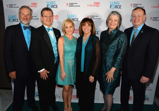 John Emanuel, Secretary/Treasurer, American Lung Association National Board of Directors, Ross Lanzafame, Esq., Chair, American Lung Association National Board of Directors, Kellie Pickler, Valerie Harper, Kate Forbes, Vice Chair, American Lung Associatio