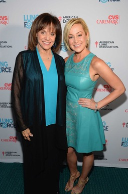 Valerie Harper and Kellie Pickler walk the turquoise carpet at the American Lung Association's LUNG FORCE national kickoff reception in New York City.