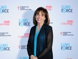 Valerie Harper walks the turquoise carpet at the American Lung Association's LUNG FORCE national kickoff reception in New York City.