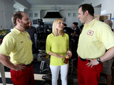 Actress Kristen Bell on the set of a mini film series for Lipton Iced Tea where Bell served her first creative director role. Bell was caught between takes joking with Carl & Stu, Lipton's new brand personalities who are iced tea deliverymen. Watch videos