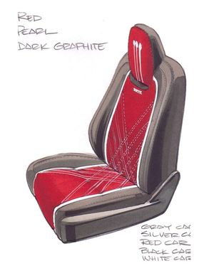 Rendering of Katzkin's  Foose-inspired seats for the 2014 Chevrolet Silverado.